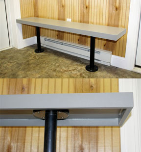 Solid Plastic Benches and Pedestals - Royal Plastic Lockers