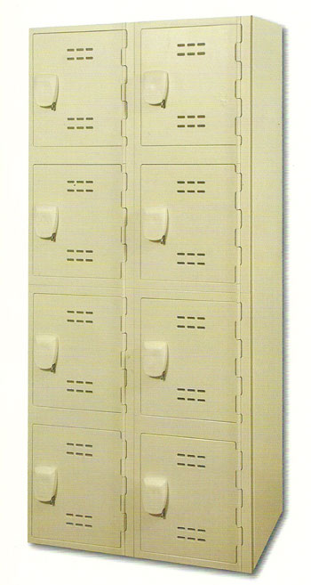 Tan Solid Plastic Lockers